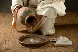 JESUS WITH A JUG OF WATER © Carlosphotos | Dreamstime.com