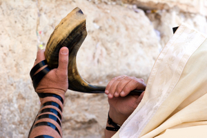 BLOWING IN SHOFAR - © Mikhail Levit | Dreamstime.com
