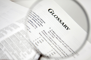 GLOSSARY © Taylor Hinton | iStockPhoto